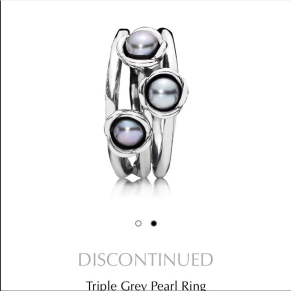 1dff30111 ... wholesale pandora 3 grey pearl ring size 6 76d9d 8f3be ...